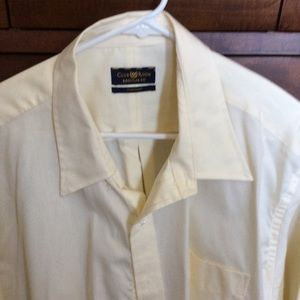 Club Room 18/35 soft Yellow dress shirt